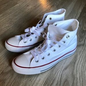White High-Top Converse